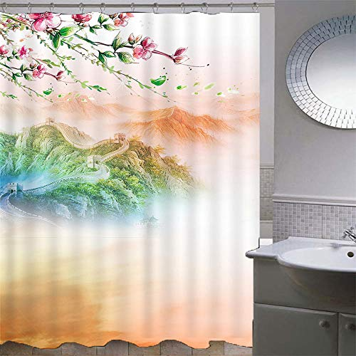 Duschvorhang 120x180 cm Anti-Schimmel...