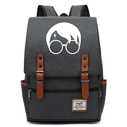 NYLY Jugend Rucksack leichte wasserdichte Oxford Tuch Rucksack Harry Potter Avatar Tasche Unisex Große Dunkelgrau B