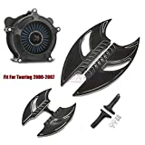 Schwarze F + R Dielen Fußrasten Luftfilter Filter Passend für Harley Touring Street Glide Trike 2008-2016 Softail Slim Heritage 16-17