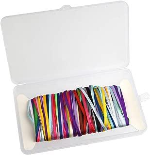 FEPITO Paquete de 18 cintas de raso Paquete de cinta de doble cara Cinta surtida para regalo de navidad Acción de gracias Artesanía Decoración, 18 colores 3 mm x 4 metros cada color