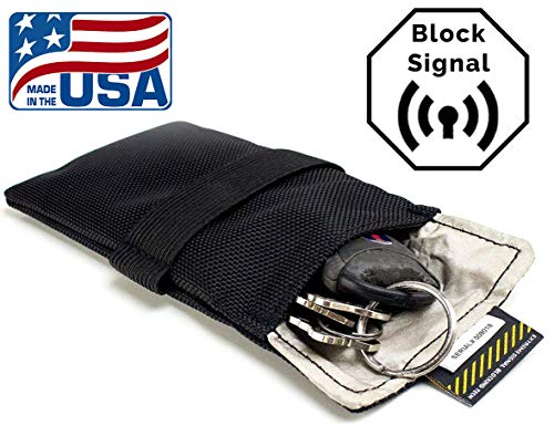 """Signal Tactics Key Fob Faraday Bag - Military-grade auto and anti-hacking security bag! Shield your key fob from duplication and the auto""""relay hack"""" with this signal shielding faraday bag!"""