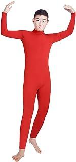 Shinningstar Boys' Men's Zentai Unitard Spandex Lycra Turtleneck Long Sleeve Dancewear Bodysuit