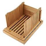 Tarente Para Cortar Pan, Guía de Bambú Plegable Pan máquina de Cortar con la miga La Captura de Bandeja