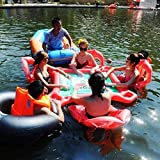 WQSFD Fila Flotante de Agua Al Aire Libre, Juguetes Inflables de Agua, Mesas de Ajedrez de Mesa Mahjong, Anillos de Natación con 4 Asientos flotantes para Adultos, Tour Holiday Entertainment Toys