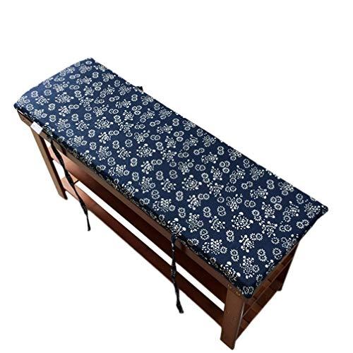 Cojín de suelo de tatami para jardín, banco largo, con lazos de fijación, cojines de banco para muebles de interior y exterior, D, 100x35x4cm