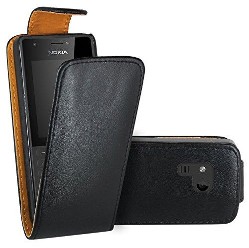 Nokia 216 Hülle, FoneExpert® Hülle Hülle Cover Hüllen Etui Ledertasche Premium Lederhülle Schutzhülle für Nokia 216
