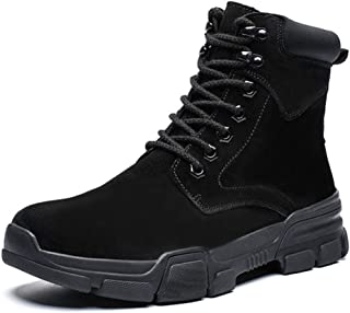 Waterproof Men's Hiking High-Top Boots, Anti-Collision Lightweight Cotton Fashion Ankle Tooling Boots for Utdoor Hiking Camping Hunting