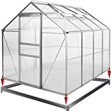 Deuba Aluminium Gewächshaus | 7,63m³ mit Fundament | 250x190cm | Treibhaus Gartenhaus Frühbeet Pflanzenhaus Aufzucht