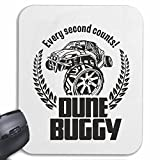 Reifen-Markt Mousepad (Mauspad) Buggy Off Road 4X4 Monster Truck 4×4 GELÄNDEWAGEN Buggy Autocross STOCKCAR RENNEN für ihren Laptop, Notebook oder Internet PC (mit Windows Linux usw.) in Weiß