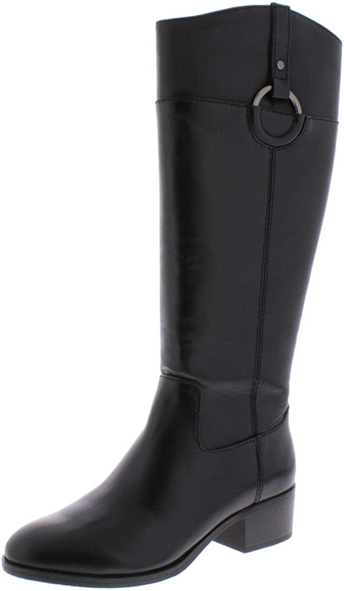 Alfani Womens Bexleyy Leather Knee-HGH Riding Boots