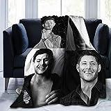 Micffo Jensen Ackles Blanket Stylish Collage of Super Soft Flannel Quality Fabrics All Season Warm 50'' x40