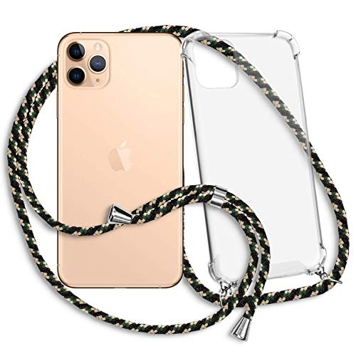 mtb more energy Collana Smartphone per Apple iPhone 11 PRO Max (6.5'') - Camouflage - Custodia indossabile per Collo - Cover con Cordoncino Tracolla