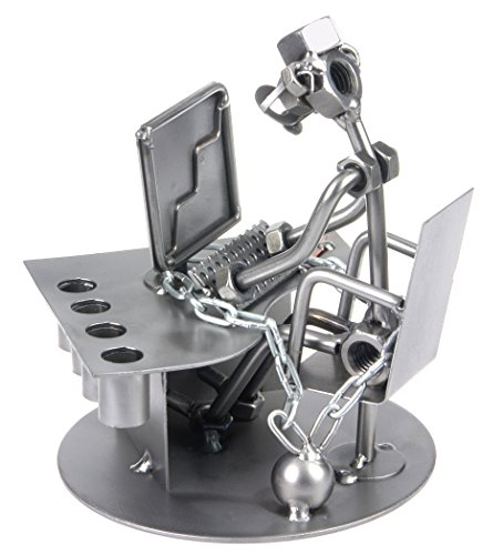 Schraubenmännchen PC Büro Workaholic I Handarbeit I Geschenkidee I Metallfigur I Metallmännchen I Stahlfigur I Schraubenmännle