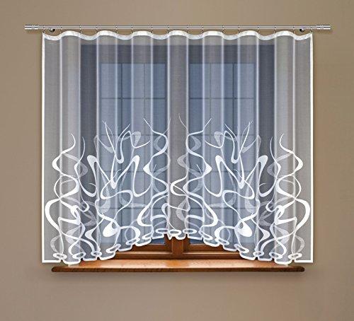 HAFT® Gardine; Store; Vorhang transparent, elegant weiß, Kräuselband (180 x 400 cm)
