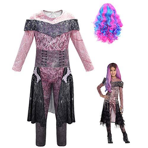 Disfraz de Descendants 3 para nia: Mal | Audrey | Disfraces UMA Deluxe Dress Up Onesies Kids Evie Halloween Cosplay Outfits