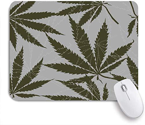 Aliciga Gaming Mouse Pad Rutschfeste Gummibasis,mit Blättern von Hanf, Marihuana, Haschisch, Marihuana-Blatt, Cannabis-Pflanze,für Computer Laptop Office Desk,240 x 200mm
