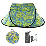LAFAZ 2 Person Tent Glow in The Dark, Instant Automatic Pop Up Easy Opening Tents Smile Face for Backpacking Camping