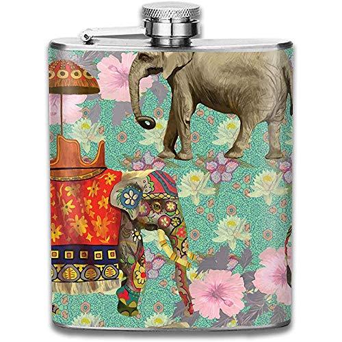 Flachmann für Schnaps Elefant Whiskyflasche für Schnaps Für Männer und Frauen Auslaufsicherer Flachmann aus Edelstahl