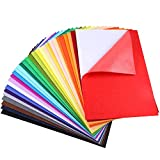 Caydo 30 Pcs 8' x 12' Adhesive Backed Felt Fabric Sheets, Assorted Color Felt Sheet for Sewing DIY Craft