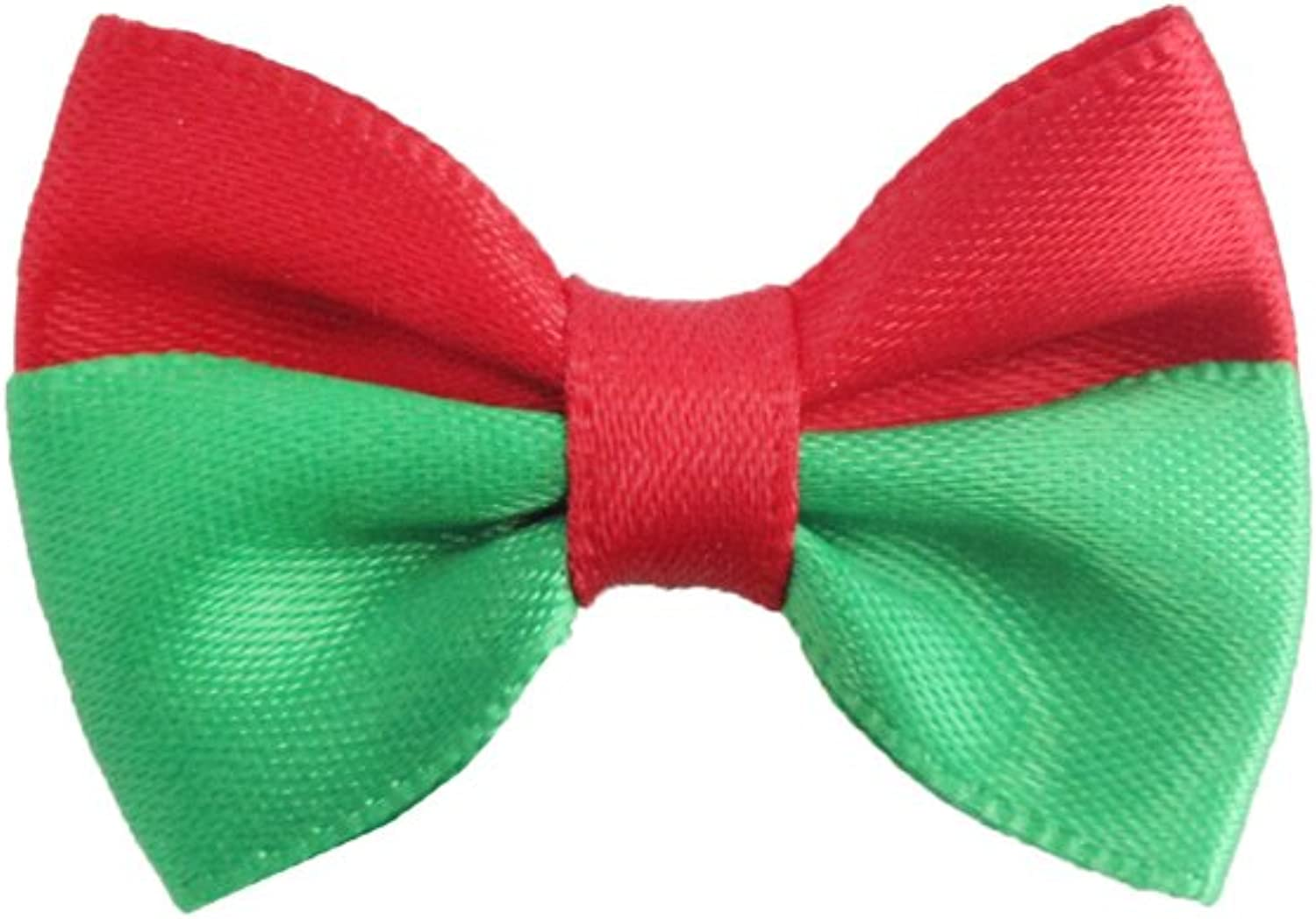 100PCs Handmade Christmas Dog Bow Tie Red Green Stripe Merry Christmas Dress up Puppy Pet