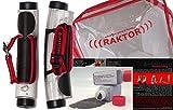 Raktor Reaktiv Hanteln Set mit zusätzlichen Stahlperlen, Transparent/Rot/Schwarz, 2000