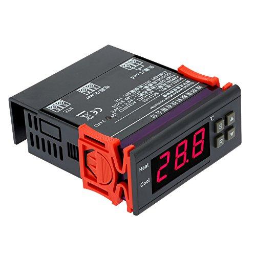 Andoer 10A 12V, digitaler Temperaturregler, Thermoelement -40℃ bis 120℃, mit Sensor