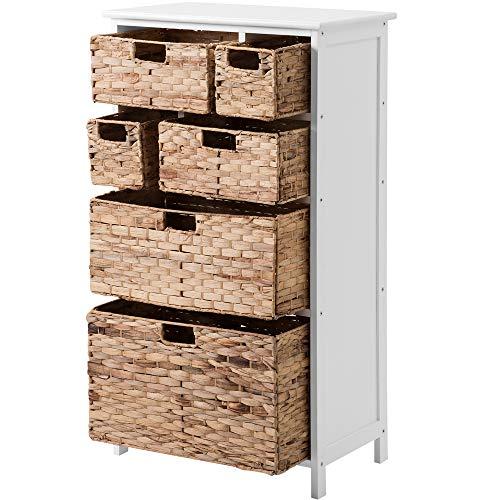 jeerbly Cajonera con cestas, unidad de almacenamiento para dormitorio, pasillo, baño, sala de estar