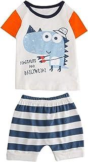 FELZ Ropa Bebe Niño Niña Verano Recién Nacido 1-5 Años Verano Camiseta de Manga