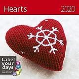 Hearts Calendar - Calendars 2019 - 2020 Calendar - Arts Crafts Calendar - Photo Calendar By Helma (Multilingual Edition)