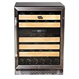 Whynter BWR-462DZ 46-Bottle Dual Temperature Zone Built Wine Refrigerator