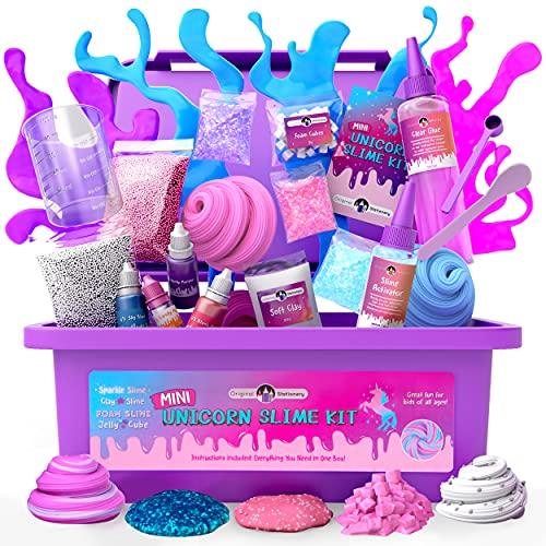 Original Stationery: Mini Unicorn Slime Kit per Ragazze e Bambina- Tutto in Una Scatola! - Crea Unicorn Slime, Colori, Glitter, Foam, Fluffy, Cloud e Molto Altro