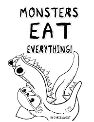 monsters eat everything illgottenbrain chris guest. coloring for men