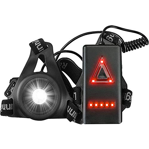 Anecity Running Light Lamp, LED Chest Light USB Rechargeable Waterproof...