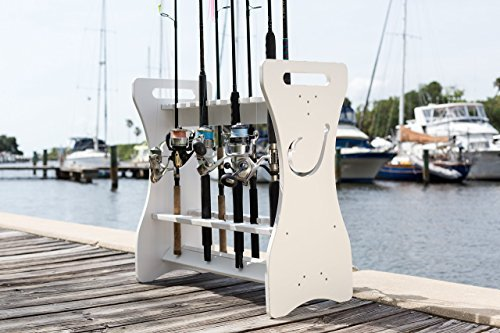 Amarine Made Stainless Tournament Style Clamp on Fishing Rod Holder for Rails 1-1/4