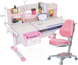 Kids Desk and Chair Set, Multifunctional Height Adjustable Study Table Workstation Kids Furniture Children Teens Study Tab...
