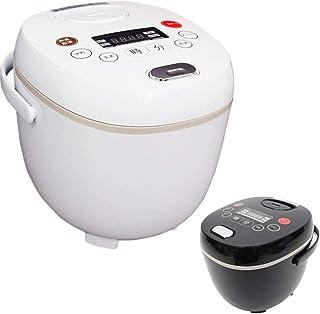 iimono117 多機能炊飯器 4合 しゃもじ 計量カップ 付き マイコン式 炊飯 早炊き スープ スチーム ケーキ ヨーグルト 再加熱 おかゆ オートミール (ブラック)