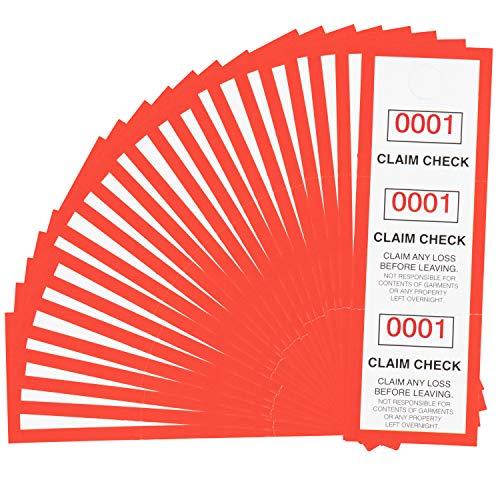 Juvale Lot de 1000 étiquettes à carreaux en 3 parties avec numéros de série 1-1000 11,4 x 3,8 cm