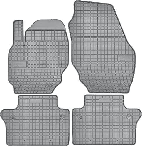 Wielganizator Alfombrillas de goma para todo el año, color gris, aptas para Volvo XC70 III, año de construcción 2007-2016