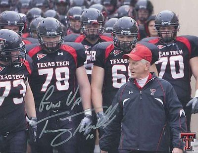TOMMY TUBERVILLE HAND SIGNED 8x11 COLOR PHOTO+COA TEXAS TECH FOOTBALL