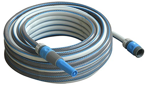 50 ft Garden Water Hose Set with Nozzle Sprayer and Tap, Hose and Stop Connectors - Best Heavy Duty Flexible Watering Hoses for Watering Lawn, Yard/Garden, Car Wash, Washing Pets, Home Cleaning