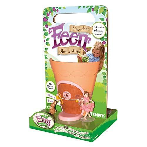 My Fairy Garden Tomy,, Magico Vaso di Fioridelle Fate –Giocattoli creativi per Bambini a Partire dai 4Anni/piantare i propri Fiori & Scoprire la Natura Giocando –Include 50Semi