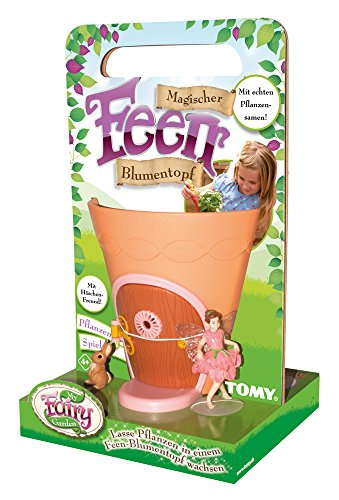 My Fairy Garden Tomy,, Magico Vaso di Fioridelle Fate -Giocattoli creativi per Bambini a Partire dai 4Anni/piantare i propri Fiori & Scoprire la Natura Giocando -Include 50Semi
