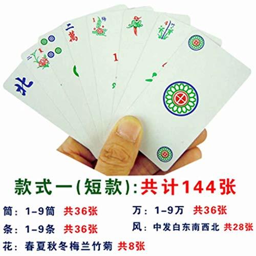 HSTFⓇ Poker Mahjong Poker Brettspiel China 144 Card Chip Set Portable Freizeit