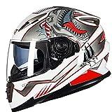 ATK Módulo Desplegable Casco de Motocicleta Visera Solar Doble Antiniebla Casco de Motocross Completamente Cubierto Interior extraíble Fácil de Limpiar, ECE,SM2,M(54-55cm)