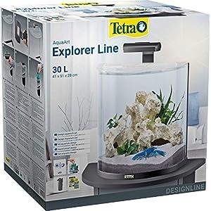 Tetra-Explorer-Line-Aquarium-Komplett-Set-Design-Aquarium-mit-gebogener-Frontscheibe-LED-Beleuchtung-Technik-Futter-und-Pflegemitteln-versch-Gren