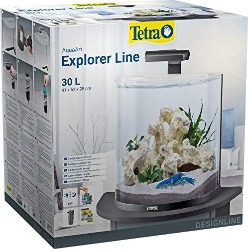 Tetra AquaArt Explorer Line Aquarium-Komplett-Set 30L, Schwarz
