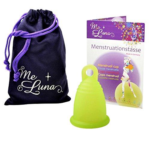 Me Luna Menstrual Taza Classic, Ring, Verde, tamaño L
