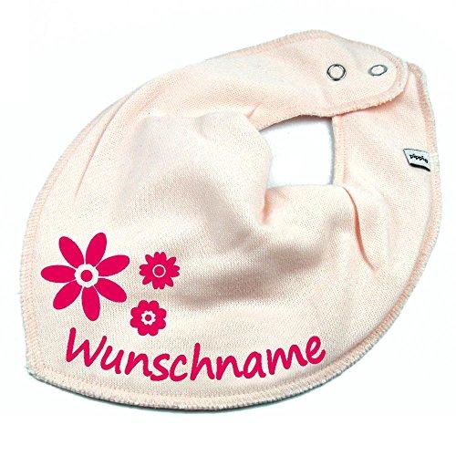Elefantasie Elefantasie HALSTUCH BLUMEN mit Namen oder Text personalisiert rosa für Baby oder Kind