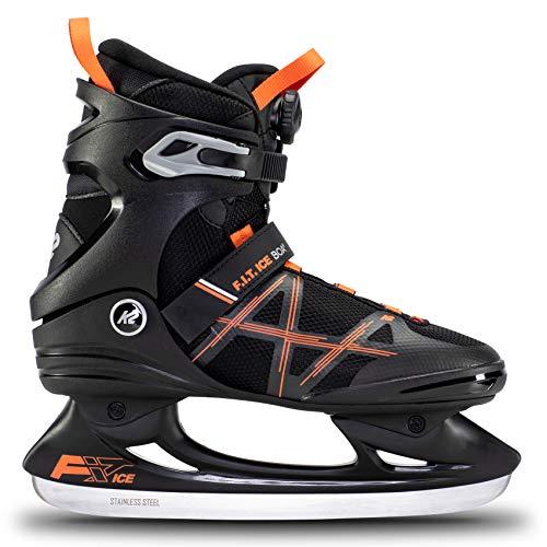 K2 Skates Herren Schlittschuhe FIT Ice Boa, Black/Orange, UK: 7.5