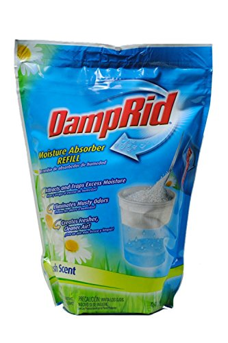 DampRid Fresh Scent Absorber. Refill Bag 42 oz Attracts & Traps Moisture for Fresher, Cleaner Air, 42 Oz, 42 Oz